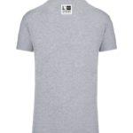 tshirt personnalisé ville anglet gris col v dos